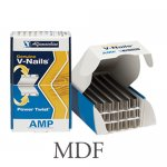 "AMP 7mm (1/4"") V-Nails - MDF"