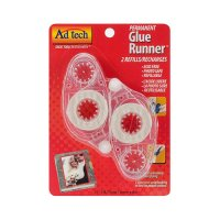 Permanent Glue Runner Refill - 2/pack