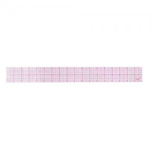 8th Inch Beveled Graph Ruler - 18""