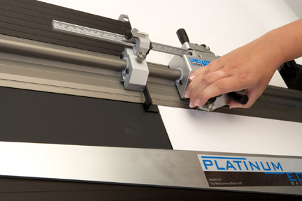 Logan 855 Platinum Edge Mat Cutter Beveled Cutting Head In Use