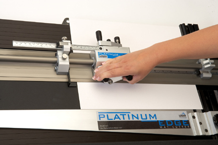 Logan 855 Platinum Edge Mat Cutter In Use